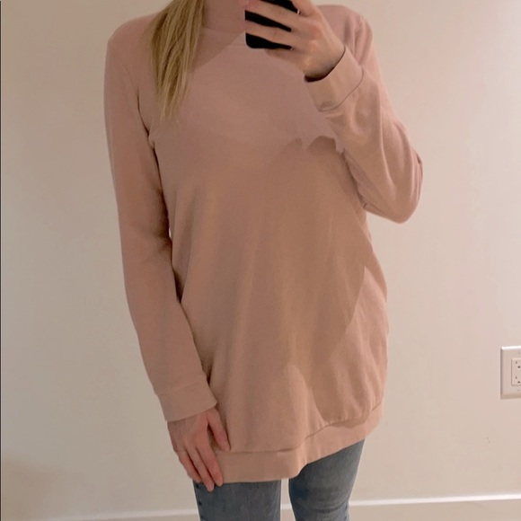 Long Dusty Pink Sweater